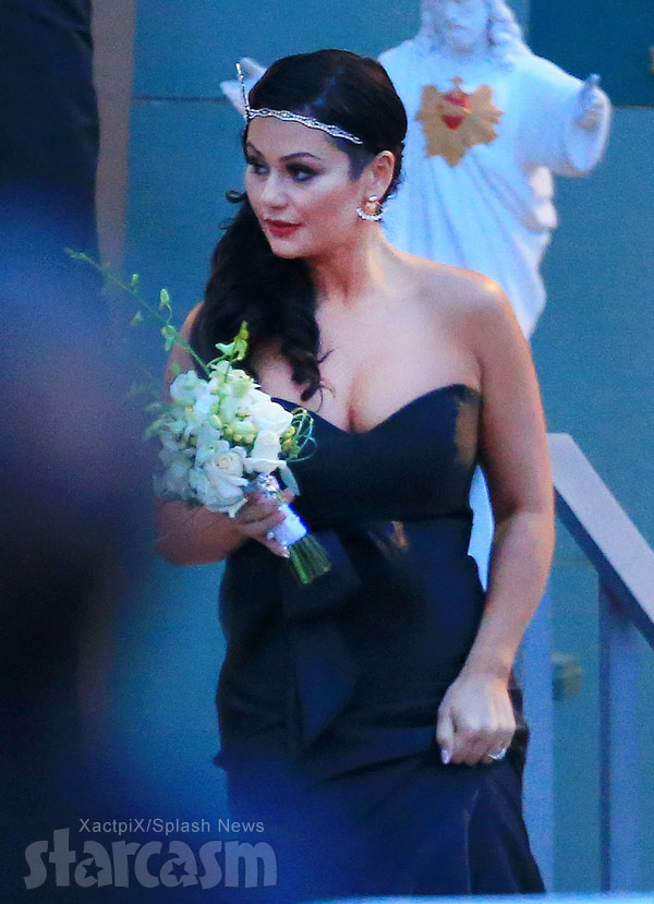 JWoww at Snooki's wedding photo