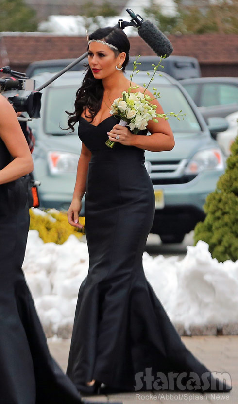 JWoww as a bridesmaid at Snooki's wedding