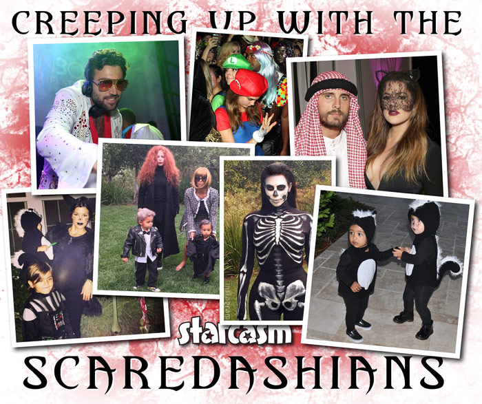 Jenner and Kardashian family Halloween costumes 2014
