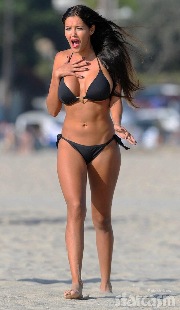 The French Kim Kardashian Nabilla Benattia bikini