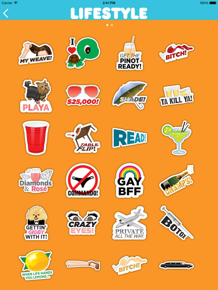Real Housewives emoji stickers app lifestyle