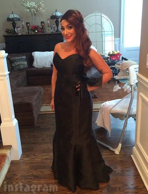 Snooki wedding Deena Cortese bridesmaid dress