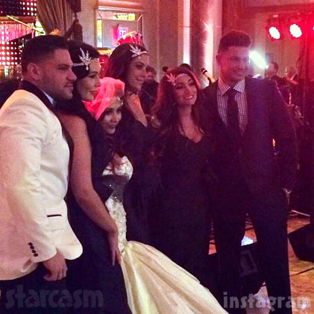 Snooki wedding Jersey Shore cast Ronnie Magro JWoww Sammi Sweetheart Giancola Deena Cortese Pauly D
