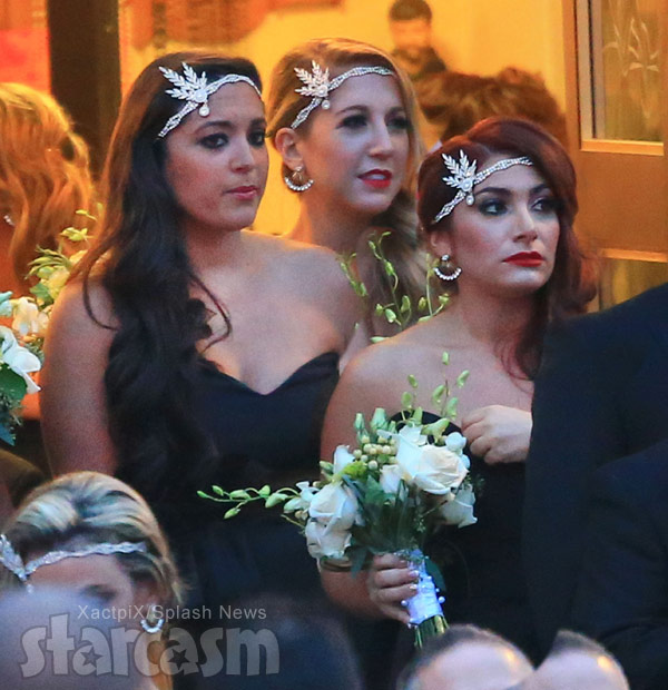 Snooki's wedding Sammi Sweetheart Giancola and Deena Cortese bridesmaids photo