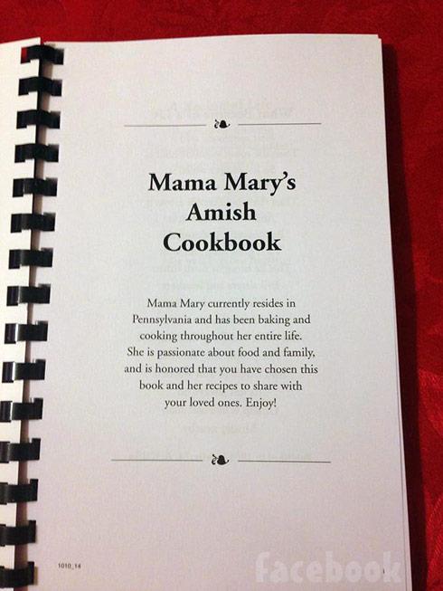 Breaking Amish Mama Mary Amish cookbook intro