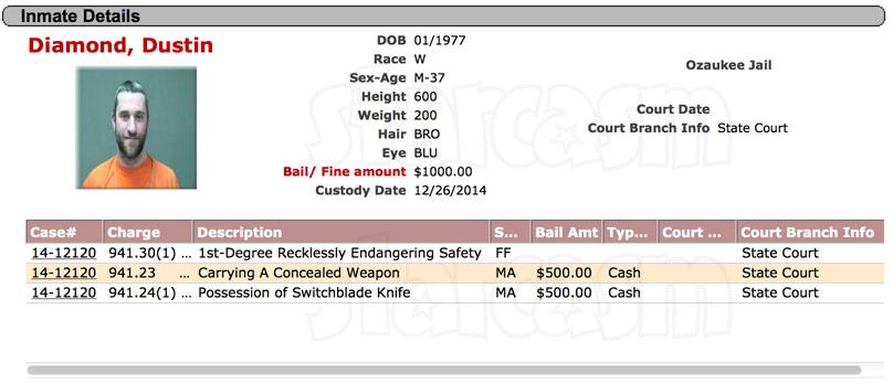 Screech Dustin Diamond arrested