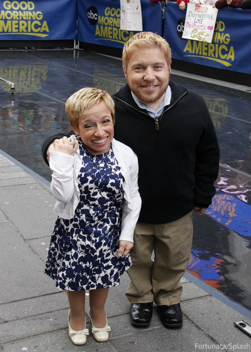 Jen Arnold and Bill Klein GMA - The Little Couple 2014