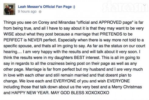 Leah Calvert Facebook Rant Against Corey Simms
