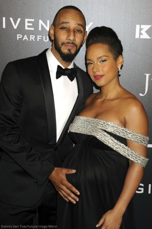 Pregnant Alicia Keys - Swizz Beatz
