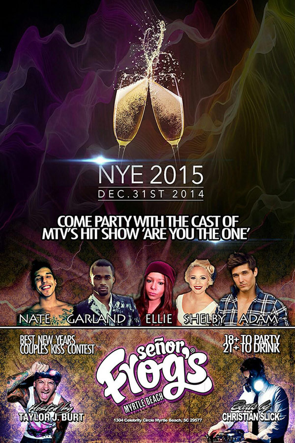 Señor Frog's Myrtle Beach NYE party 2015