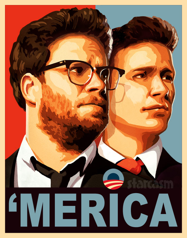 The Interview Merica presidential campaign poster Seth Rogen James Franco