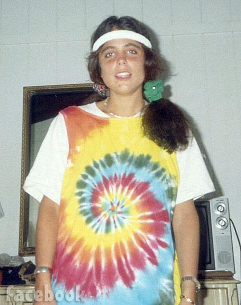 Bethenny Frankel throwback hippie tie dye