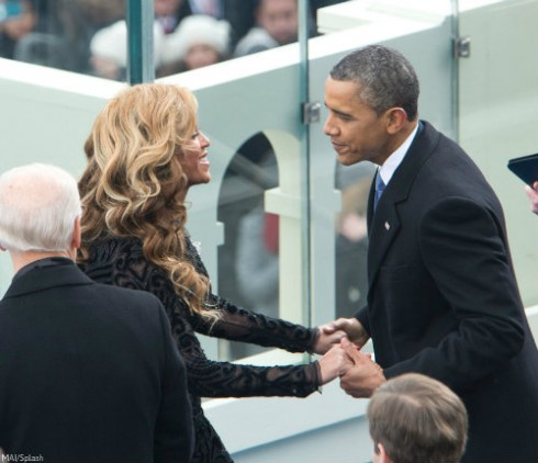 Beyonce and President Obama 2013 Inaguration