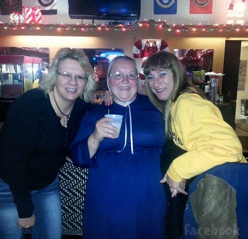 Breaking Amish Mary Schmucker drinking