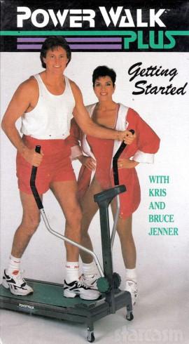 Bruce Jenner Kris_Jenner Power Walk Plus video VHS