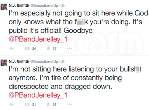Jenelle Evans Nathan Griffith break up tweet