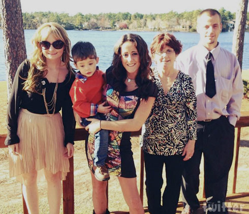 Jenelle Evans family photo with her sister and brother