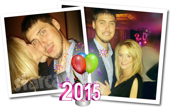 Jeremy Calvert and Leah Calvert New Year's Eve 2015 photos