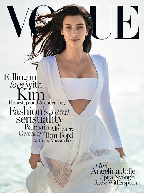Kim Kardashian Vogue cover Australia - click to enlarge