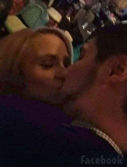 Leah Calvert Kissing Jeremy Calvert NYE 2015 Facebook