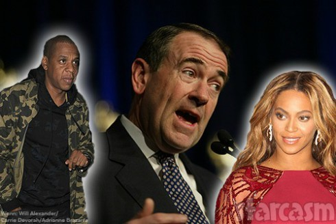 Mike-Huckabee-v-Jay-Z-and-Beyonce