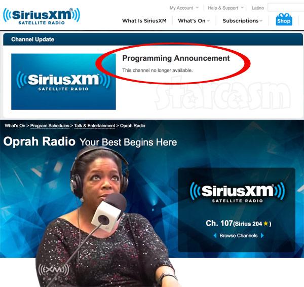 Why did Sirius XM get rid of Oprah Radio