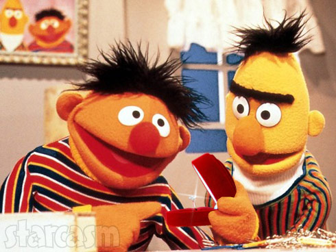 Bert and Ernie gay, engaged to be married?