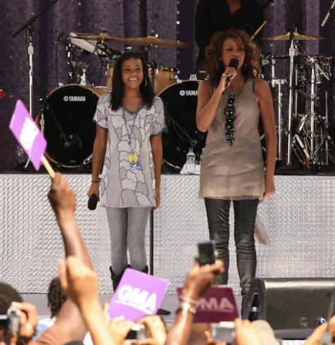 Bobbi Kristina and Whitney Houston