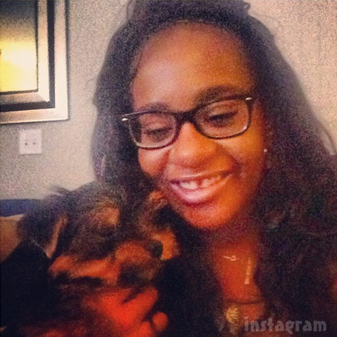 Bobbi Kristina Brown dog Yorkie