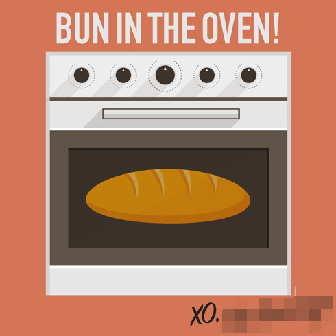 Bun in the oven graphic