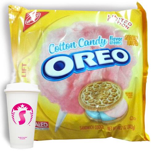 Cotton candy Oreos