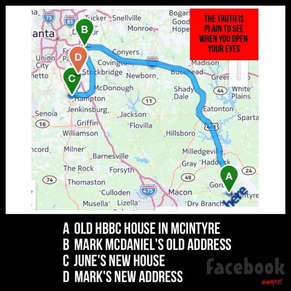 Here Comes Honey Boo Boo June Shannon house map Mark McDaniel
