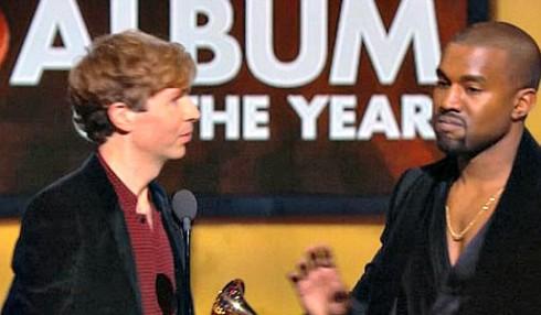 Kanye West Beck Grammy Awards