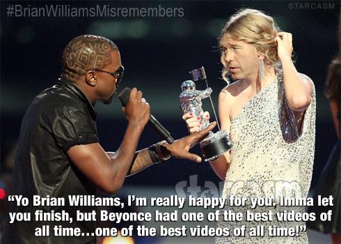 Kanye West Taylor Swift Brian Williams BrianWilliamsMisremembers
