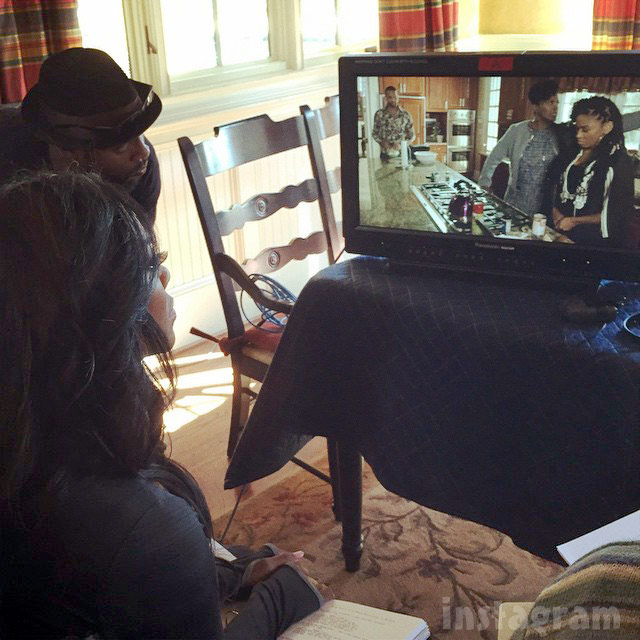 Kenya Moore directing Janet Hubert for TV show Life Twirls On