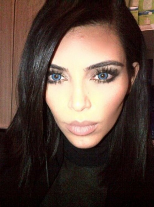 Kim Kardashian Contacts Blue