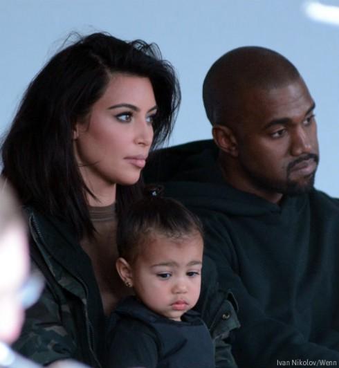 Kim Kardashian North West Kanye West Fashion Show