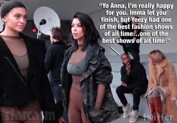 Kim Kardashian Yeezy show Kanye West Anna Wintour