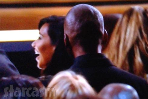 Kim Kardashian laughing 2015 Grammys