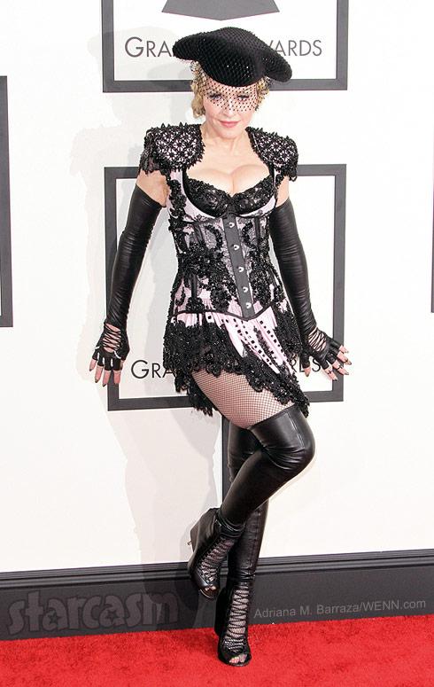 Madonna 2015 Grammy Awards red carpet