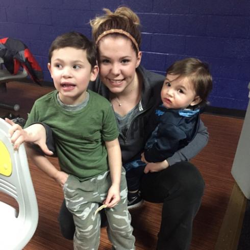 Kailyn with boys