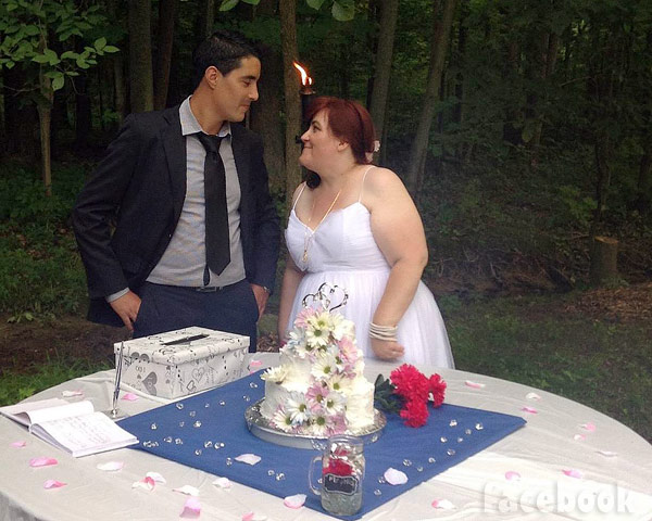 Sister Wives Danielle and Mohamed wedding photo