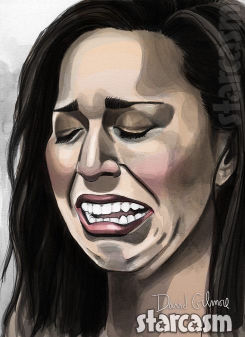 Farrah Abraham cry face by Pretty On the Outside artist David Gilmore