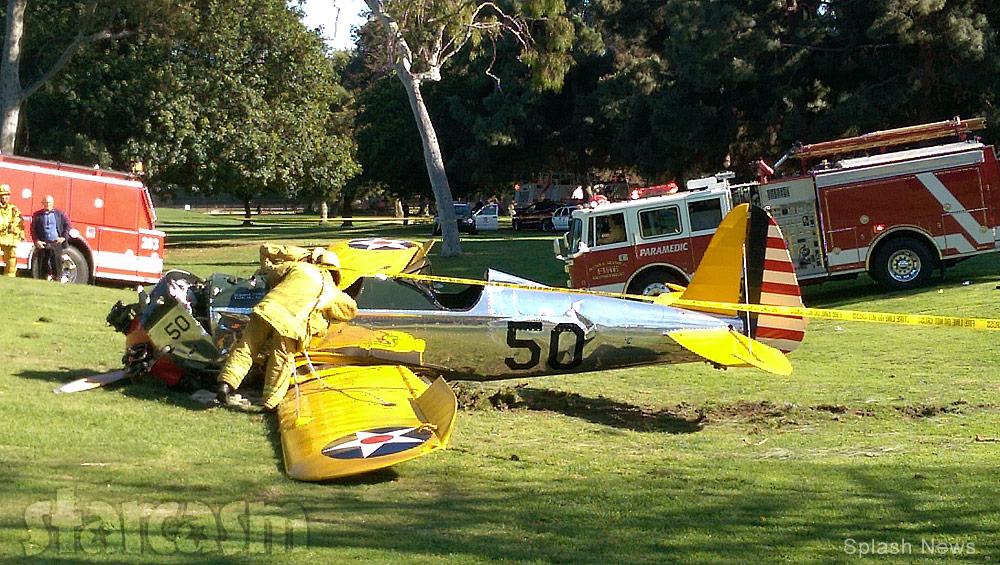 Harrison Ford airplane crash scene photo
