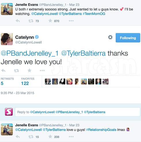 Jenelle Evans Catelynn Lowell tweets