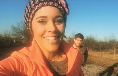 Jessa Seewald and Ben Seewald Working Out