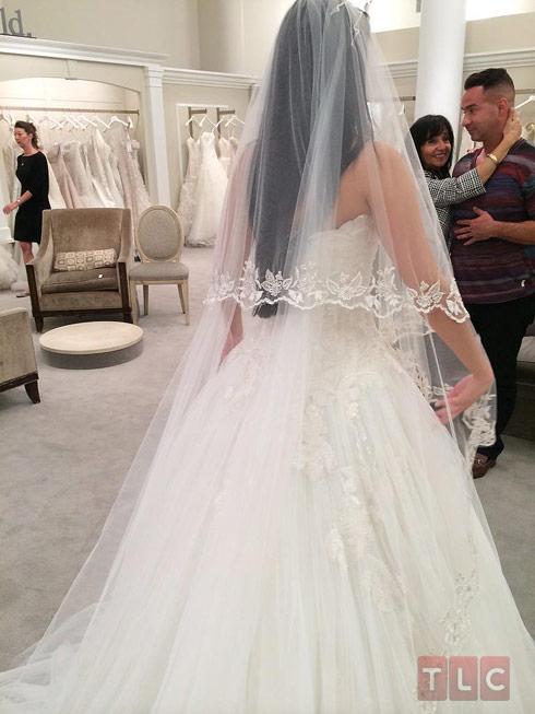 Melissa Sorrentino wedding dress back