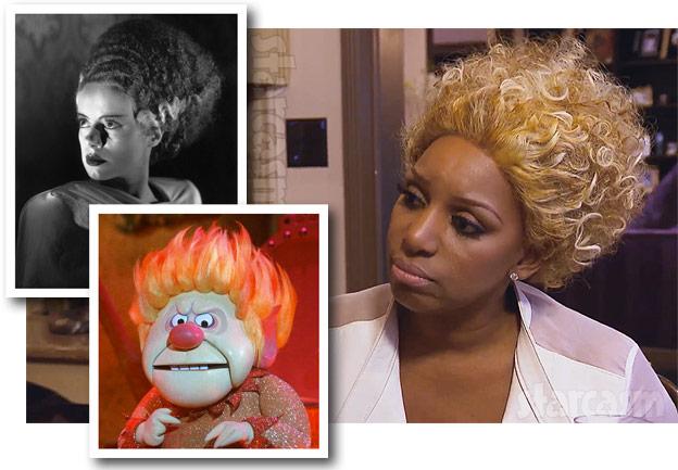 NeNe Leakes wig Heat Miser Bride of Frankenstein Frankenstein