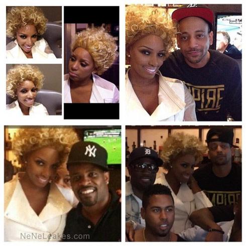 Nene Leakes crazy blonde wig before photos