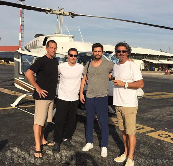Scott Disick rehab Costa Rica helicopter